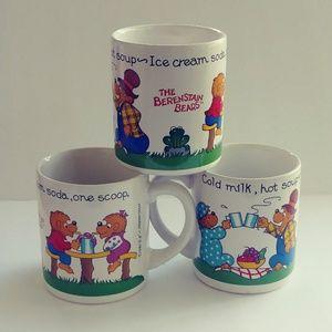Vintage Berenstain Bears Coffee Mugs set of 3